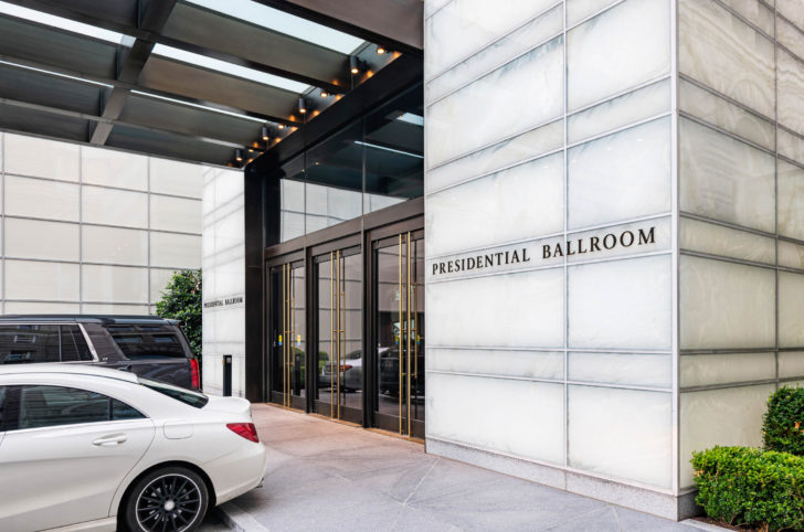 Doors of the Trump International Hotel Washington, D.C., designed and created by Dawson