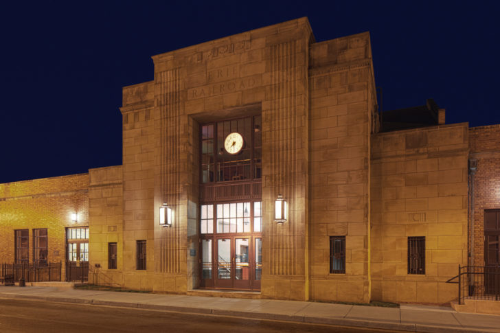 Dawson doors on Erie - Lackawanna Train Station
