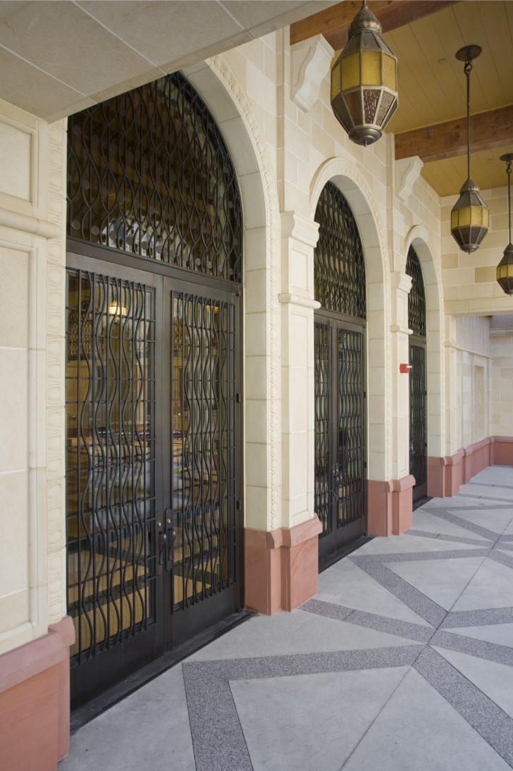 Dawson doors on USC School of Cinematic Arts, Los Angeles, California