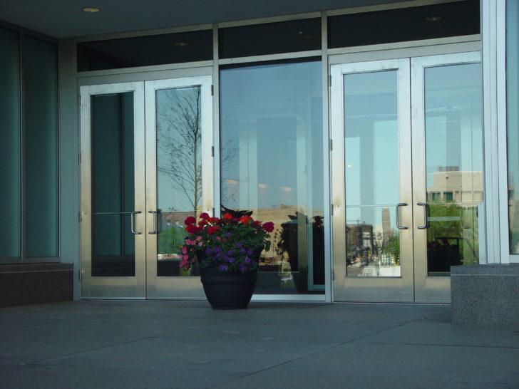 Dawson doors on Marquette Plaza in Minneapolis, MN