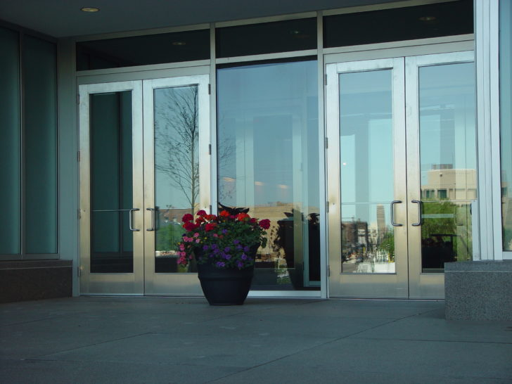 Dawson doors on Marquette Plaza in Minneapolis, MN