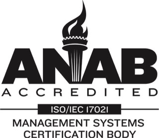 ANAB Accredited ISO