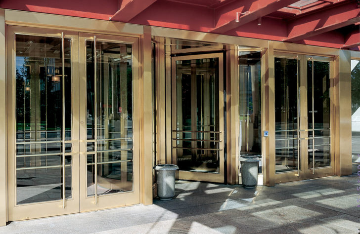 Marriot Hotel Brass Doors